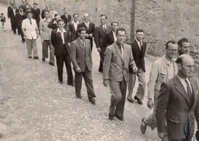 14 juillet années 50, seuls les hommes défilent