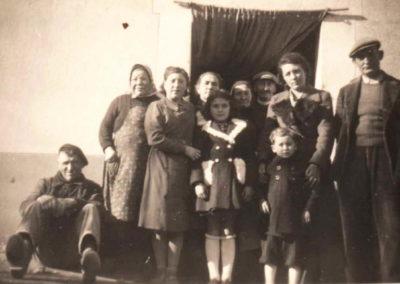 Habitants de la rue coll de carrera en 1948