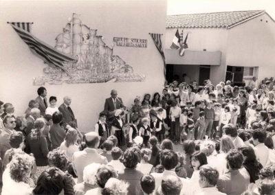 Inauguration du groupe scolaire en présence d'Alfred Sauvy en 84