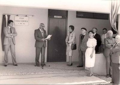 Inauguration du stade Pierre Germa en 84